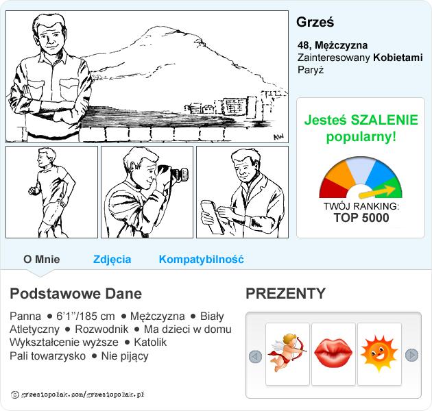 Szalenie popularny profil randkowy Grzesia Polaka