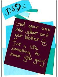 Karteczka dla chorego taty