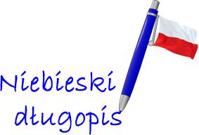Niebieski długopis