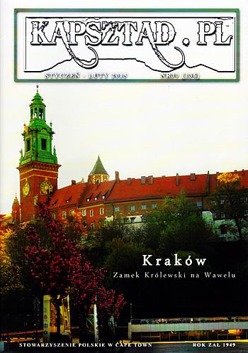 Strona tytułowa magazynu Stowarzyszenia Polskiego w Kapsztadzie - Kapsztad.pl. styczeń-luty 2015, nr 30.