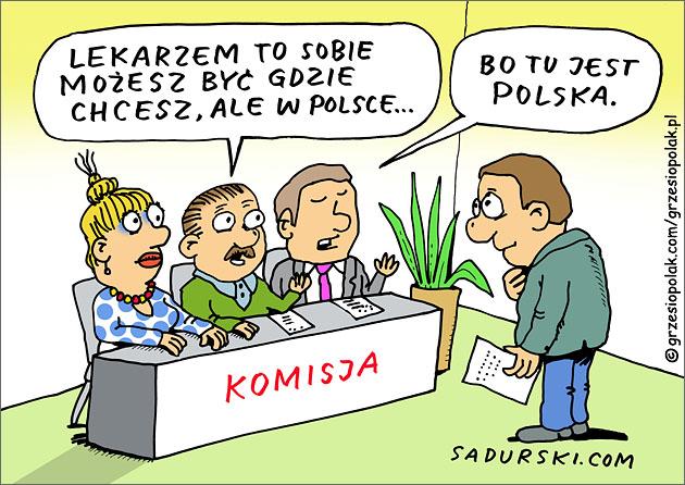 Los lekarza emigranta w Polsce