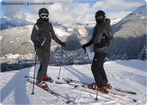 Na nartach we Francji