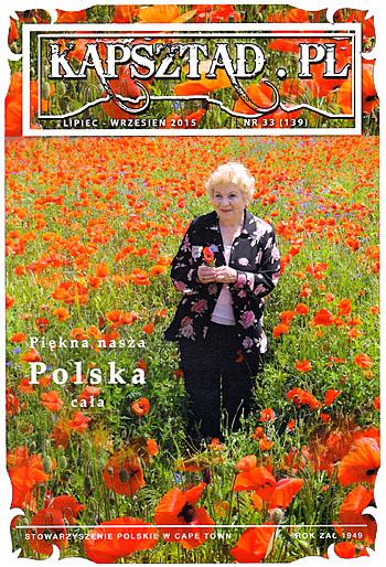Strona tytułowa magazynu Stowarzyszenia Polskiego w Kapsztadzie - Kapsztad.pl. lipiec-wrzesień 2015, nr 33