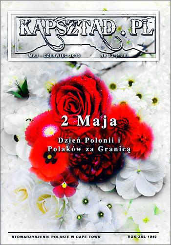 Strona tytułowa magazynu Stowarzyszenia Polskiego w Kapsztadzie - Kapsztad.pl. maj-czerwiec 2015, nr 32