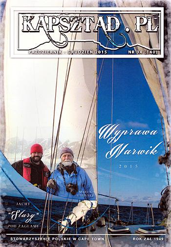 Strona tytułowa magazynu Stowarzyszenia Polskiego w Kapsztadzie - Kapsztad.pl. październik-grudzień 2015, nr 34