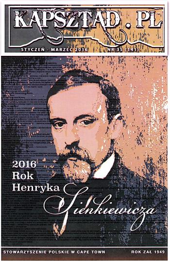 Strona tytułowa magazynu Stowarzyszenia Polskiego w Kapsztadzie - Kapsztad.pl. styczeń-marzec 2016, nr 35